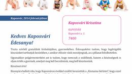 Levelet kapnak a kaposvári kismamák