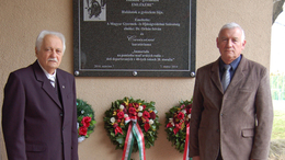 Emléktábla avatás a szlovákiai Nagymagyaron