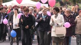 Kaposvári séta a mellrák ellen