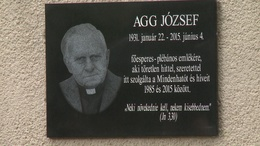 Emléktáblát avattak Agg József emlékére