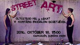 Az utcaművészet és az irodalom találkozása