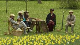 Jókedvű tavaszköszöntés a századelő hangulatában