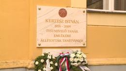 Emléktáblát kapott Kertész István