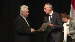 Balás Béla kapta idén a Szabadságért Kaposvár Emlékérmet