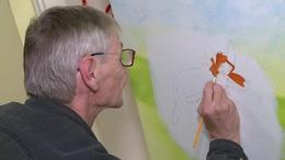 Mesevilágot festett szabadidején a kaposszerdahelyi férfi