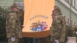 Levonták Kaposvár zászlaját