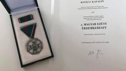 Kitüntették Kovács Katalint