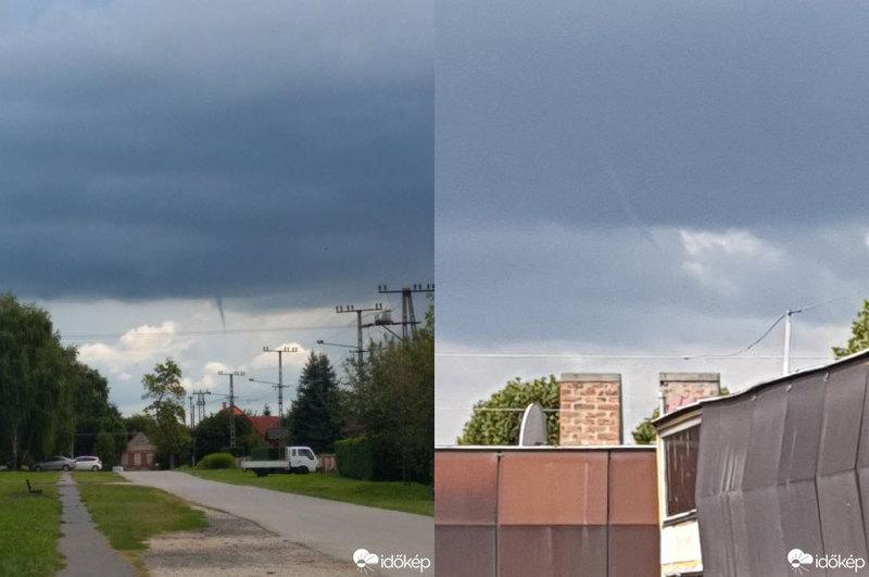 A portál Nama nevű felhasználója Taszárról, Takacsnereiszanett pedig Dombóvárról küldött felvételt erről a meteorológiai jelenségről.