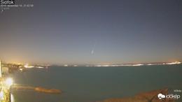 Meteor húzott el a Balaton fölött