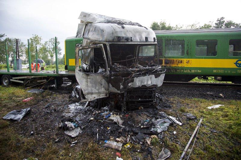 Halálos vonatbaleset Barcsnál (Fotó: Varga György/MTI)