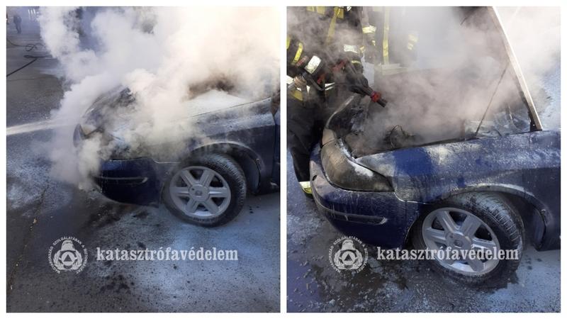autó tűz Kaposvár