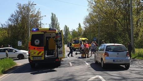 Motoros baleset Siófoknál