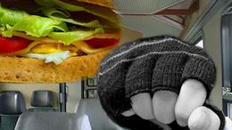 Megverték és kirabolták a szendvicséért