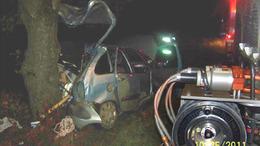 Fotókkal! Fának csapódott az autó: az utas meghalt