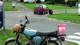 Lába tört a motorosnak a Donnerben