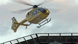 Mentőhelikopter vitte el a sofőrt