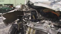 Busszal ütközött egy személygépkocsi Gödrénél