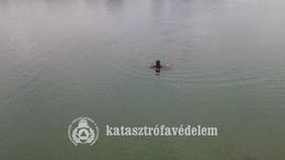 Életmentők a gyékényesi tóban