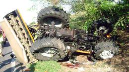 Meghalt az útkarbantartó traktoros az M7-esen