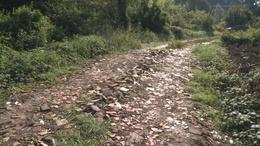 Sitt és törmelék szegélyez egy kaposvári utcát