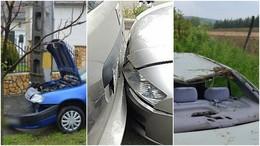 Olajfolt és vad is okozott balesetet