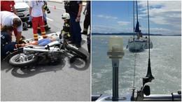 Motorosgázolások és vízi mentések