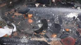 Szénné égett egy fatároló Kaposváron