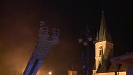 A városházán gyakorlatoztak a tűzoltók