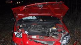 Fának csapódott egy autó a 67-esen
