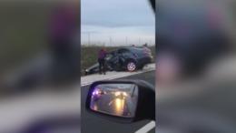 Súlyos baleset az R67-esen
