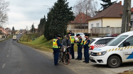 A megye gyalogosait és kerékpárosait ellenőrizték