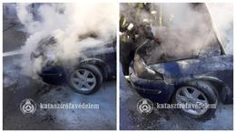 Autó lángolt Kaposváron