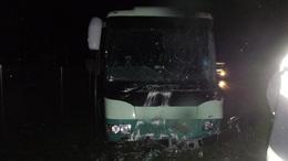 Árokba hajtott egy autóbusz Csombárdon