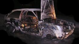Kiégett egy Ford Enyingen