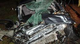 Frontális karambol, három súlyos sérült