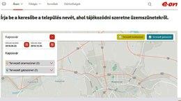 Online térképen mutatja a tervezett áram- és gázszüneteket az E.ON