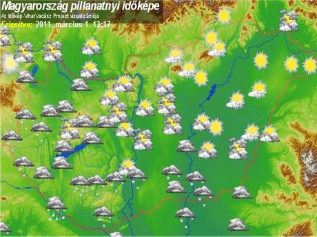 magyarország időjárás térkép Napsütés helyett havazott   Kis szines   Hírek   KaposPont magyarország időjárás térkép