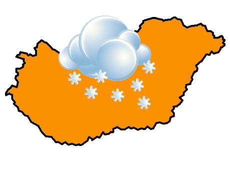 narancs riasztás hó
