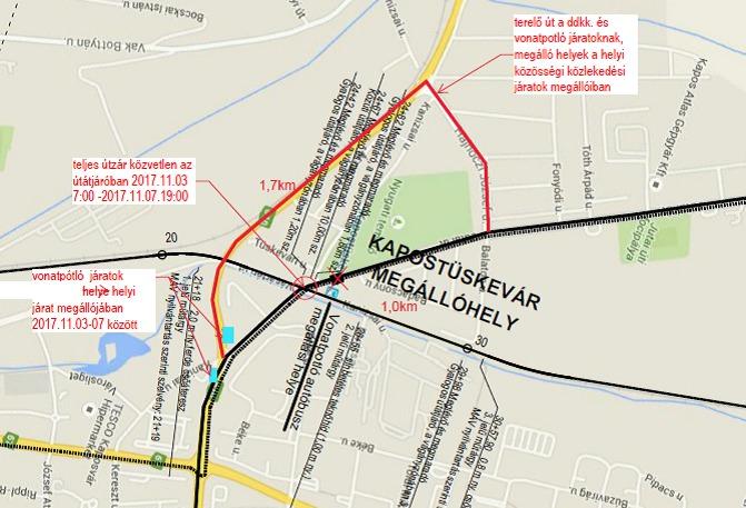Az alábbi útvonalon lehet kerülni (Kép: NIF)