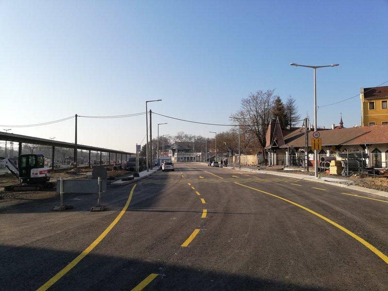 Az Áchim András utca új nyomvonala (Fotó: Facebook)