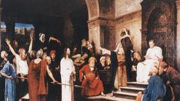 Olaj és grafikai változatok kísérik a Krisztus-trilógiát