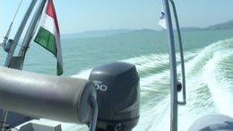 Két bajba jutott kishajót is mentettek a Balatoni Vízirendészet járőrei