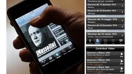Alkalmazásban az olasz diktátor