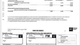 0,56 forintról kapott számlát