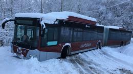 Kisebb késésekkel közlekednek a buszok