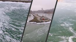 Így néz ki a magasból a jegesedő Balaton
