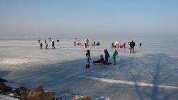 Már 30 centiméteres a Balaton jege