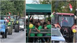 Traktorok köröztek a belvárosban