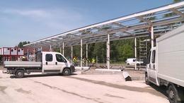 Gőzerővel épül az ideiglenes buszpályaudvar Kaposváron