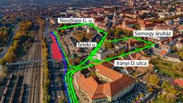 Életbe lépett az új forgalmi rend Kaposvár belvárosában
